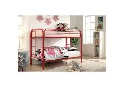 Image for Opal Red Twin/Twin Metal Bunk Bed