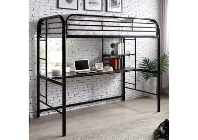 Opal III Metal Twin Loft Bed