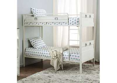 Mccredmond White Twin/Twin Bunk Bed