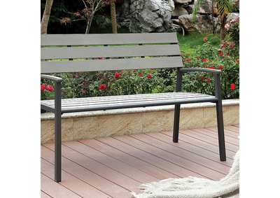 Isha Light Grey Outdoor Bench