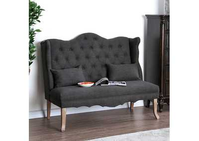 Image for Donnelly Gray Linen Loveseat w/Pillows