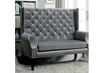 Shayla Gray Loveseat Bench
