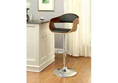 Image for Boxil Leatherette Swivel Barstool w/Wooden Scoop Frame