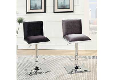 Image for Orjan Gray Upholstered Swivel Bar Stool w/Adjustable Height