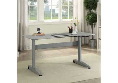 Image for Kilkee Gray Adjustable Height Large Desk