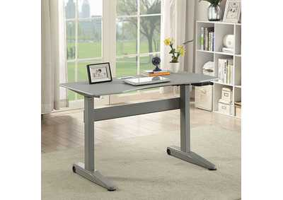Image for Kilkee Gray Adjustable Height Small Desk