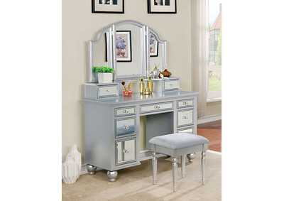 Image for Tracy Silver Vanity w/Stool