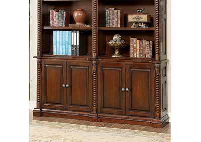 Vicki Dark Oak Book Shelf Buffet