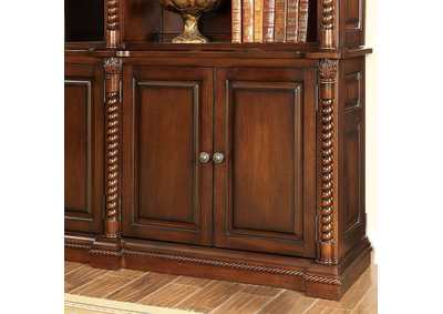 Image for Vicki Dark Oak Book Shelf Buffet