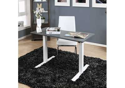 Image for Hedvig Gray Adjustable Height Small Desk