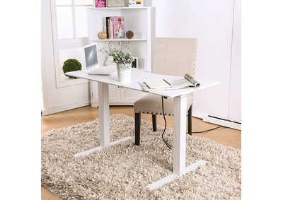 Image for Hedvig White Adjustable Height Small Desk