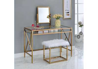 Lismore Champagne Vanity w/Stool