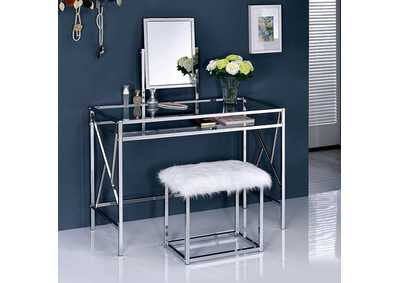 Lismore Chrome Vanity w/Stool