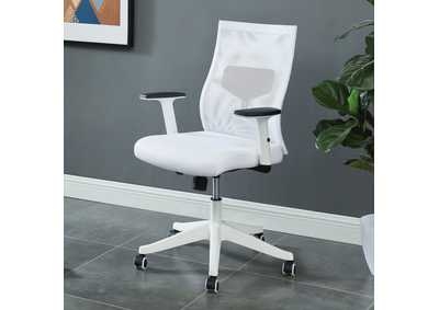 Orli White Office Chair