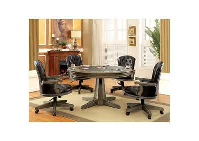 Yelena Game Table w/4 Arm Chairs