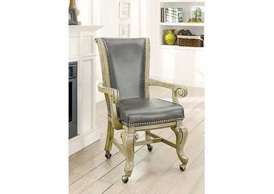 Image for Melina Gray Arm Chair (Set of 2)