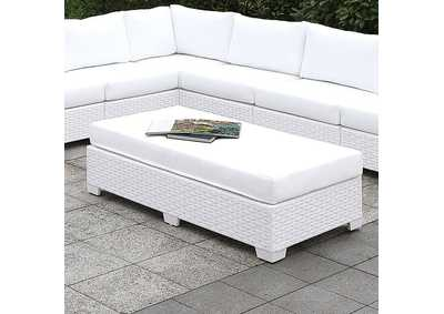 Image for Somani White Wicker/White Cushion Sofa