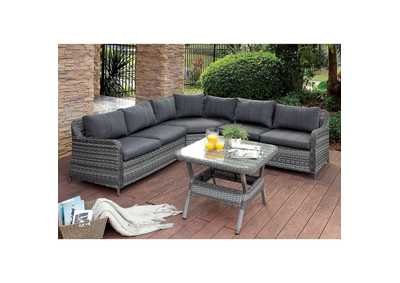 Selina Gray Patio Sectional w/Table