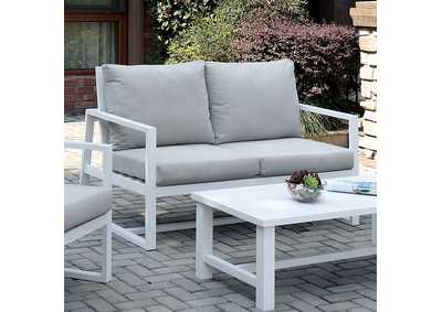 Image for India Beige Patio Loveseat