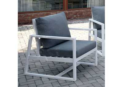 Image for India Gray Patio Arm Chair