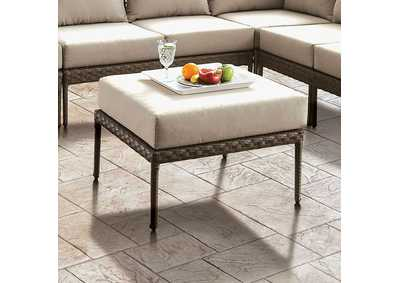 Aleisha Brown Patio Ottoman