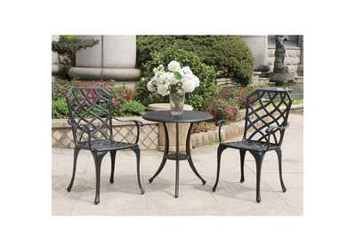 Crary Black Round Bistro Table Set