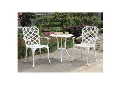 Crary White Round Bistro Table Set