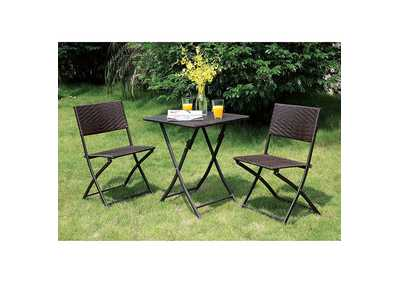 Seren Espresso 3 Piece Patio Set