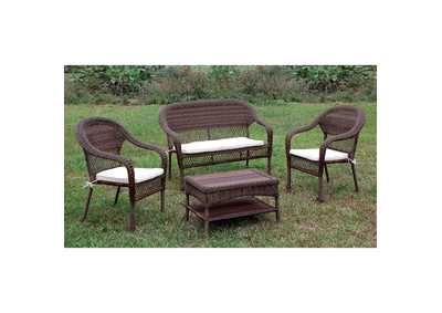 Image for Olina Brown Wicker Patio Chair