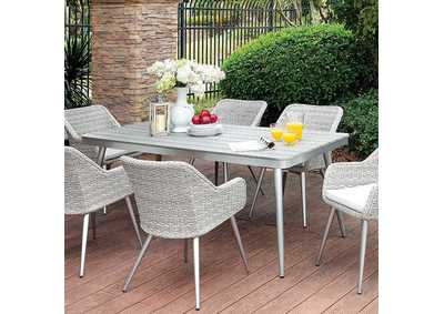 Shivani Silver/Gray Patio Dining Table
