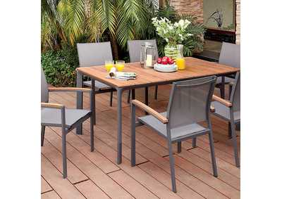 Oshawa Oak/Gray Patio Dining Table