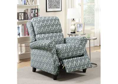 Amy Blue Push-Back Recliner