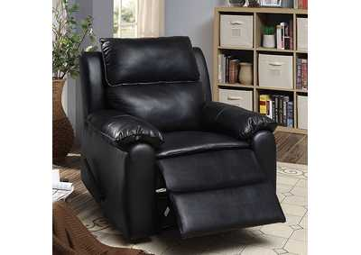 Bedwas Black Leather Recliner