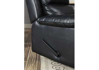 Image for Bedwas Black Leather Recliner