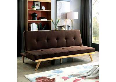 Lyra Brown Futon Sofa