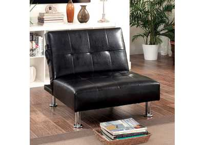 Image for Bulle Black Chair w/Side Pockets On Both Sides
