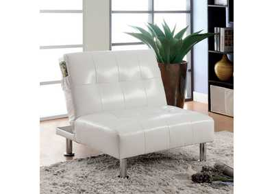 Image for Bulle White Chair w/Side Pockets On Both Sides