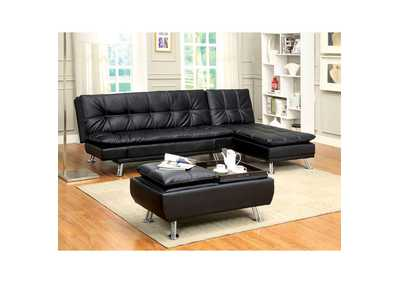 Image for Hauser II Black Chaise