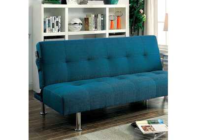 Dewey Dark Teal Futon Sofa
