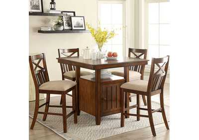 Arlington Brown Cherry Counter Height Table