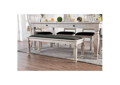 Image for Georgia Antique White Dining Bench