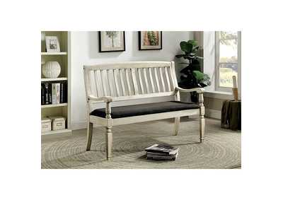 Image for Georgia Antique White Loveseat Bench
