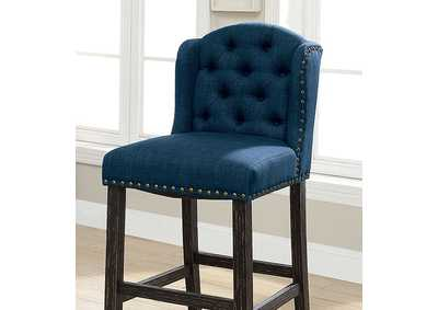 Image for Sania II Blue Bar Chair