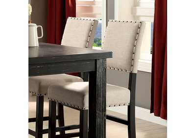 Image for Sania II Antique Black/Beige Counter Chair (Set of 2)