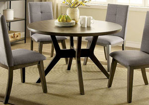 Abelone Gray Round Dining Table