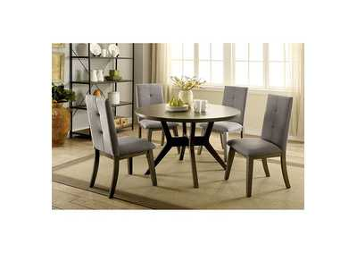 Image for Abelone Gray Dining Table w/4 Side Chair