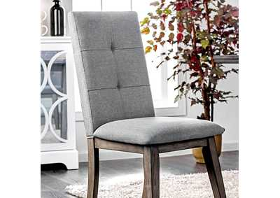 Abelone Gray Side Chair (Set of 2)