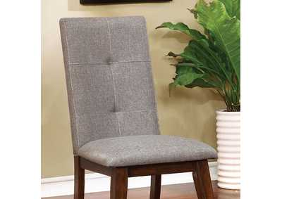 Image for Abelone Grey & Walnut Side Chair (2/Box)