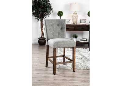 Schoten Gray Upholstered Counter Height Chair (Set of 2)