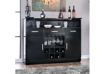 Image for Alena Black Bar Table